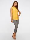 Топ вискозный с нагрудным карманом oodji для женщины (желтый), 11411108B/26346/5200N - вид 6