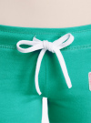 Брюки трикотажные с завязками oodji #SECTION_NAME# (зеленый), 16700045-2B/46949/6D00N - вид 4