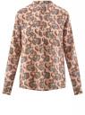 Блузка вискозная А-образного силуэта oodji для женщины (розовый), 21411113B/26346/5470E