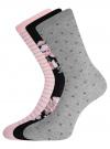 Комплект высоких носков (3 пары) oodji для женщины (разноцветный), 57102902T3/47613/28 - вид 2