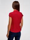 Рубашка с коротким рукавом из хлопка oodji #SECTION_NAME# (красный), 11403196-3/26357/4500N - вид 3