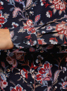 Блузка базовая из вискозы oodji для женщины (синий), 11411136B/26346/7945E