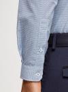 Рубашка приталенная с графичным принтом oodji #SECTION_NAME# (синий), 3L110249M/44425N/1079G - вид 5