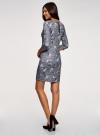 Платье облегающего силуэта на молнии oodji #SECTION_NAME# (серый), 14001105-8B/48480/2519F - вид 3