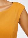 Платье из плотной ткани с овальным вырезом oodji #SECTION_NAME# (желтый), 11907004-2/31291/5200N - вид 5