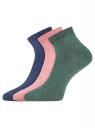 Комплект из трех пар укороченных носков oodji для женщины (разноцветный), 57102418T3/47469/58