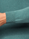 Пуловер с хлопковой вставкой на груди oodji #SECTION_NAME# (зеленый), 4B212006M/39245N/6D00B - вид 5