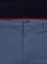 Брюки-чиносы из хлопка oodji для мужчины (синий), 2L150206M/48556N/7900O