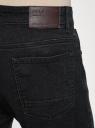 Джинсы slim со средней посадкой oodji #SECTION_NAME# (черный), 6B160002M-2/45068/2900W - вид 5