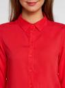 Блузка базовая из вискозы oodji #SECTION_NAME# (красный), 11411136B/26346/4500N