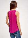 Топ базовый из вискозы oodji для женщины (розовый), 14911008-1B/48756/4701N - вид 3