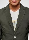 Пиджак приталенный с накладными карманами oodji #SECTION_NAME# (зеленый), 2B510005M/39355N/6600N - вид 4