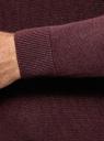 Джемпер вязаный с круглым вырезом oodji для мужчины (красный), 4L112223M/47167N/4979M