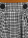 Юбка миди в клетку oodji #SECTION_NAME# (серый), 11600433-2B/22124/2012C - вид 4