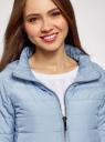 Куртка стеганая с короткими рукавами oodji #SECTION_NAME# (синий), 10207003/45420/7001N - вид 4