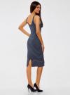 Платье трикотажное на тонких бретелях oodji #SECTION_NAME# (синий), 14015007-1B/45450/7912S - вид 3