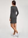 Платье базовое принтованное oodji #SECTION_NAME# (черный), 14011038-2B/37809/2912O - вид 3