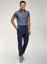 Брюки костюмные на кулиске oodji для мужчины (синий), 2B200029M/50452N/7900N