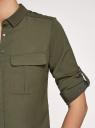 Блузка из струящейся ткани с регулировкой длины рукава oodji для женщины (зеленый), 11403225-10B/46123/6800N