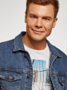 Куртка джинсовая с нагрудными карманами oodji #SECTION_NAME# (синий), 6L300009M/46627/7500W - вид 4