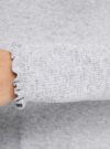 Свитер с декоративной обработкой горловины и рукавов oodji #SECTION_NAME# (серый), 64412190/46039/2000M - вид 5