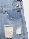Комбинезон джинсовый с отделкой в стиле пэчворк oodji #SECTION_NAME# (синий), 13108002-1/45254/7000W - вид 5