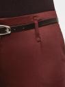 Брюки-чиносы с ремнем oodji для женщины (красный), 21703094-3/33482/4900N