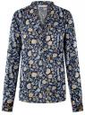 Блузка вискозная прямого силуэта oodji #SECTION_NAME# (синий), 21400394-1B/24681/7970F