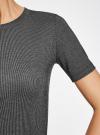 Платье в рубчик oodji #SECTION_NAME# (черный), 14011031/47349/2923N - вид 5
