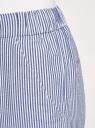 Брюки хлопковые на эластичном поясе oodji для женщины (синий), 11703098/42583/7510S