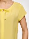 Блузка свободного силуэта с бантом oodji #SECTION_NAME# (желтый), 11411154-1B/24681/5000N - вид 5