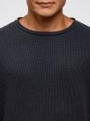 Джемпер фактурный с круглым вырезом oodji #SECTION_NAME# (синий), 5L113131M/48664N/7901N - вид 4