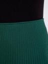 Юбка в рубчик на резинке oodji для женщины (зеленый), 14101087/46412/6E00N
