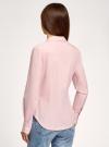 Рубашка хлопковая базовая oodji #SECTION_NAME# (розовый), 13K03001-1B/14885/4005N - вид 3