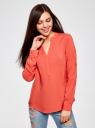 Блузка вискозная прямого силуэта oodji #SECTION_NAME# (красный), 21400394-1B/24681/4300N - вид 2