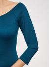 Платье облегающее с вырезом-лодочкой oodji #SECTION_NAME# (зеленый), 14017001/42376/6C01N - вид 5