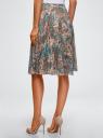 Юбка миди из струящейся ткани oodji для женщины (бирюзовый), 11600418/43074/7333E
