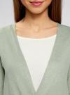Кардиган вязаный без застежки oodji для женщины (зеленый), 63212577/46629/6000N - вид 4