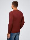 Пуловер базовый с V-образным вырезом oodji #SECTION_NAME# (красный), 4B212007M-1/34390N/4C00M - вид 3