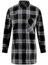 Рубашка свободного силуэта клетчатая oodji для женщины (черный), 11400432/43114/2925C