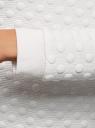 Свитшот прямого силуэта из фактурной ткани oodji #SECTION_NAME# (белый), 24801010-14/47198/1200N - вид 5