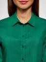 Блузка базовая из вискозы oodji #SECTION_NAME# (зеленый), 11411136B/26346/6E01N - вид 4
