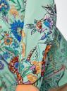 Блузка свободного силуэта с цветочным принтом oodji #SECTION_NAME# (бирюзовый), 21411109/46038/7319F - вид 5