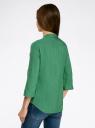 Блузка вискозная с регулировкой длины рукава oodji #SECTION_NAME# (зеленый), 11403225-3B/26346/6E00N - вид 3