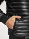 Куртка стеганая из искусственной кожи oodji #SECTION_NAME# (черный), 1L511053M-1/47397N/2900N - вид 5