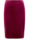 Юбка-карандаш бархатная oodji #SECTION_NAME# (розовый), 24101048-2/46056/4900N