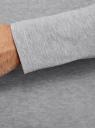 Футболка с длинным рукавом хлопковая oodji #SECTION_NAME# (серый), 5B512004M/46737N/2300M - вид 5