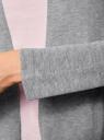 Кардиган вязаный без застежки oodji для женщины (серый), 63212577-1B/46629/2500M