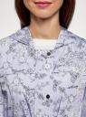 Куртка удлиненная на кулиске oodji #SECTION_NAME# (синий), 11D03006/24058/7012F - вид 4