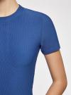 Платье трикотажное с коротким рукавом oodji #SECTION_NAME# (синий), 14011007/45262/7500N - вид 5